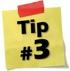 Tip #3: